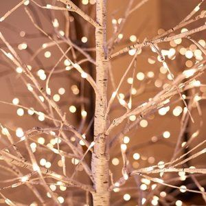 3' Birch Tree with Remote and Twinkle